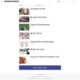 Minimum - Minimal Edition WordPress Theme